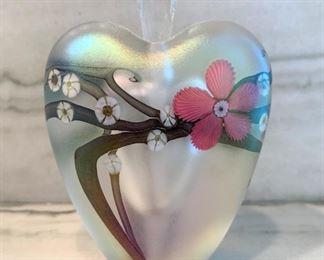 """Zellique art glass perfume bottle.  MEASUREMENTS:  3 3/4""""H x 3""""W.   $125"""