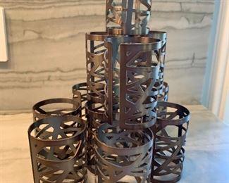 """Lot of napkin rings.  MEASUREMENTS:  2 1/2""""H.   $25"""