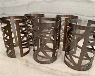 "Alternate view - Lot of napkin rings.  MEASUREMENTS:  2 1/2""H.   $25"