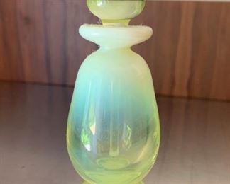 Small opaline glass perfume flask.   $30
