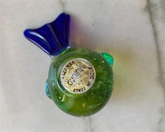 "Alternate view - Petite Murano glass bird (chip to tail).  MEASUREMENTS:  2 1/2""L.  $5"