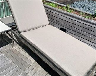 """Alternate view - Chaise - comes with cushion.  MEASUREMENTS:  78""""L x 27""""W.  $375"""