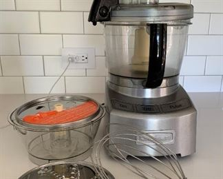 Cuisinart with accessories.  $45