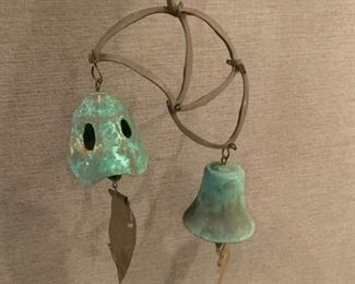 """Alternate view - Hanging bell chime.  MEASUREMENTS:  33 1/2""""L.  $45"""