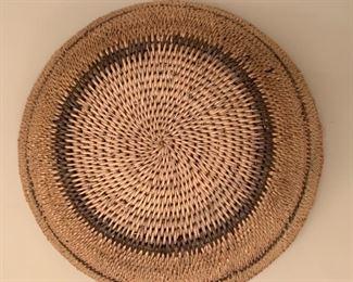 "Alternate view - Hand woven basket.  MEASUREMENTS:  5""H x 11""D.  $35"