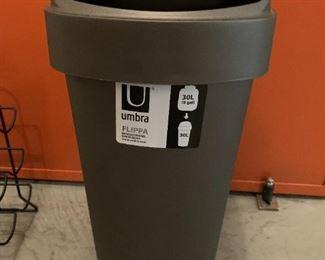 "Trash can.  MEASUREMENTS:  24""H x 14""D x 9 1/2""W  $5"