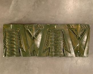 "Ornamental Plaster Freize after Frank Lloyd Wright for Dana-Thomas House renovation.  MEASUREMENTS:  1 3/4"" Thick x 21""L x 8""W.  $250"