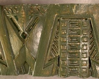 "Alternate view - Ornamental Plaster Freize after Frank Lloyd Wright for Dana-Thomas House renovation.  MEASUREMENTS:  1 3/4"" Thick x 21""L x 8""W.  $250"