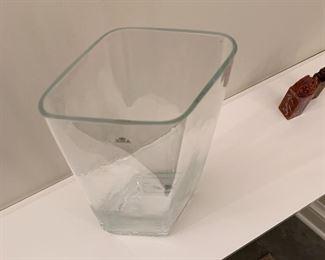 "Alternate view - Large glass vase.  MEASUREMENTS:  14""H.  $10"