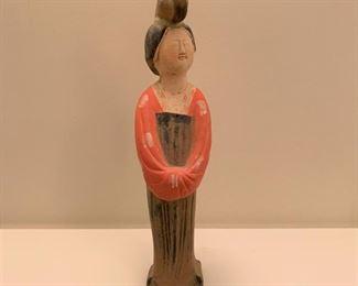 "Asian pottery figurine.  MEASUREMENTS:  12 1/2""H.  $25"