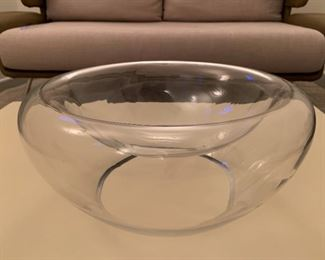 "Alternate view - Large glass center bowl.  MEASUREMENTS:  7""H x 15 1/2""W.  $20"