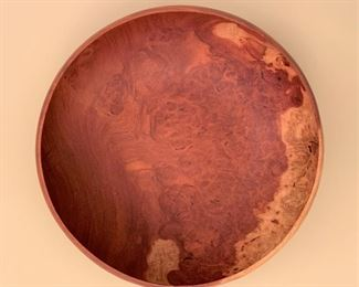 """Large hand carved centerpiece bowl.  Hairline fracture. MEASUREMENTS:  6""""H x 14 1/4"""" D.  $35"""