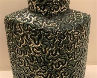 """Art pottery vase.  MEASUREMENTS:  12""""H x 8""""W.  $40"""