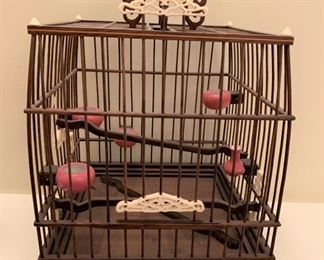 """Alternate view - Chinese cricket cage.  MEASUREMENTS:  11""""H x 7 1/2"""" x 7 1/2"""".  $50"""