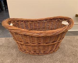 """Laundry basket.  MEASUREMENTS:  13""""H x 28""""L x 21""""D.  $5"""