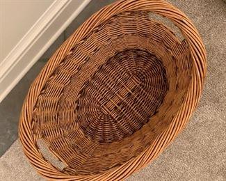 """Alternate view - Laundry basket.  MEASUREMENTS:  13""""H x 28""""L x 21""""D.  $5"""