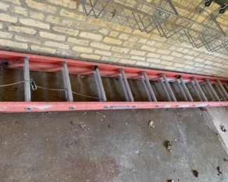Werner large extension ladder.  Extends to approximately 24 feet.  $50