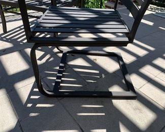 "Alternate view - Rocker chair.  MEASUREMENTS:  34""H x 22""W x 23 1/2""D.   $150 - includes orange seat cushion."