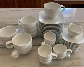 Set of Rosenthal Studio Line coffee/tea cups and espresso/demitasse cups and saucers.   $125