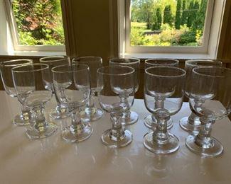 """Lot of glass goblets.  MEASUREMENTS: 7"""" H x 3 3/8"""" D  $10"""