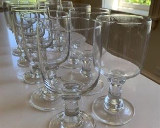 "Alternate view - Lot of glass goblets.  MEASUREMENTS: 7"" H x 3 3/8"" D  $10"