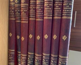 Complete volumes - Great Men and Famous Women - 8 volumes $100