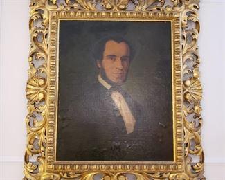 George Wilhelm Fasel New York/Germany 19th century gilt framed ancestor portrait
