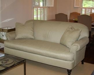 "Designer Custom reupholstered Sofa - 80"" long - $ 495"