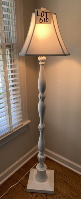 Lot 510.  $85.00.  Pottery Barn Floor Lamp in Pristine Condition.  Love it.