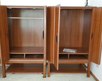 2 Media Cabinets