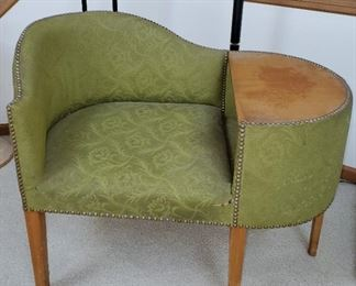 Vintage Chair w/ Side Table