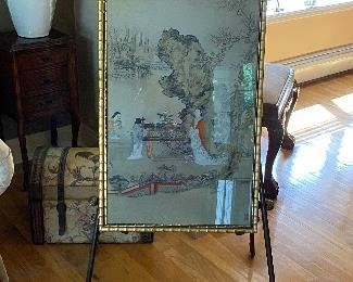 BRASS EASEL, $275 OR BEST OFFER, ASIAN ART $225 OR BEST OFFER