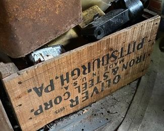 Old wooden crate from Iron & Steel Corp.