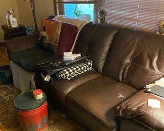 Sofa, area rug