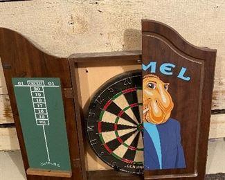 Dart board in Joe Camel case