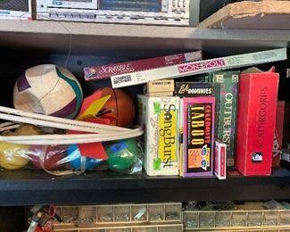 Games - Bocce ball, darts, board