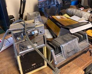 Vintage can opener and knife sharpener