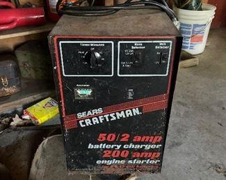 Craftsman battery charger/engine starter on wheels