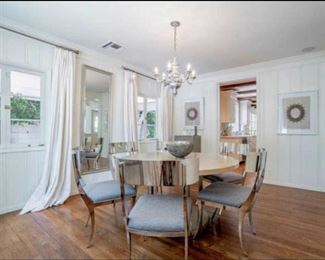 "Entire home of staging furnishings available  - Two persons per party (sorry no children)       Luxury  Brands are Bernhardt, Trowbridge, Bliss Home, Brownstone, Circa, Restoration, Caracole, Home Crush, Inner Living, and more luxury brands ~  NO WAYFAIR  ~ Dining table 54"" spool table"