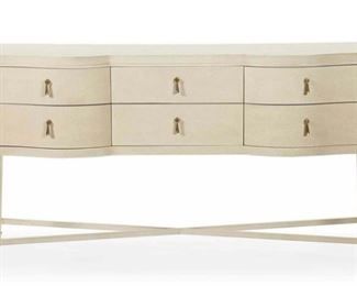 Dining console with felt silver lined drawers