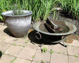 Fire pit and planter