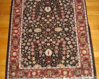Hand knotted wool oriental area rug