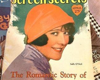 Old movie star magazine
