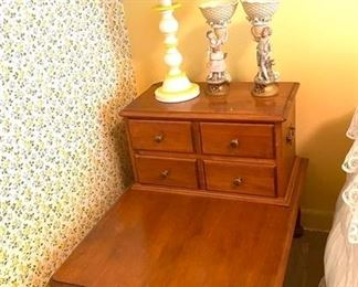 Hard maple early American end table