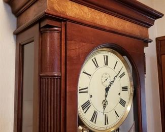 GORGEOUS HOWARD MILLER GRANDFATHER WALL CLOCK