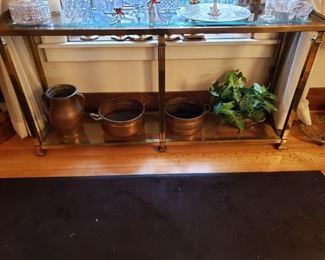 BEVELED GLASS SOFA TABLE