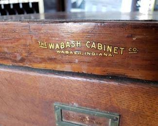 NICE ANTIQUE OAK WABASH CABINET