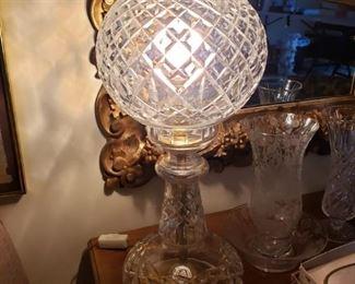 BEAUTIFUL WATERFORD LAMP