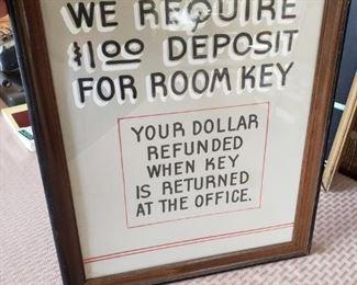ANTIQUE HOTEL SIGN