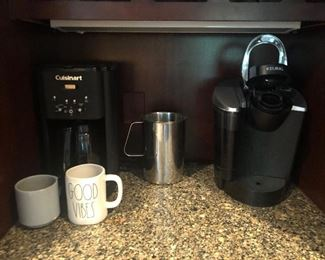 Cuisinart Coffee Maker and Keurig Machine